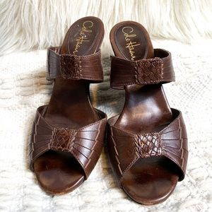 Cole Haan Braided Leather Made in Brazil Wedges